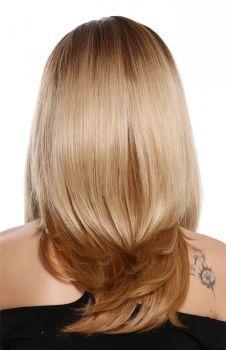 Braune haare mit blonder farbe farben