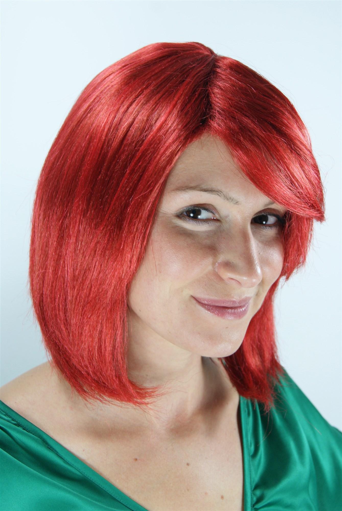 Roter Bob mit Seitenscheitel Modell: 1215DRESS ME UP - Der ...
