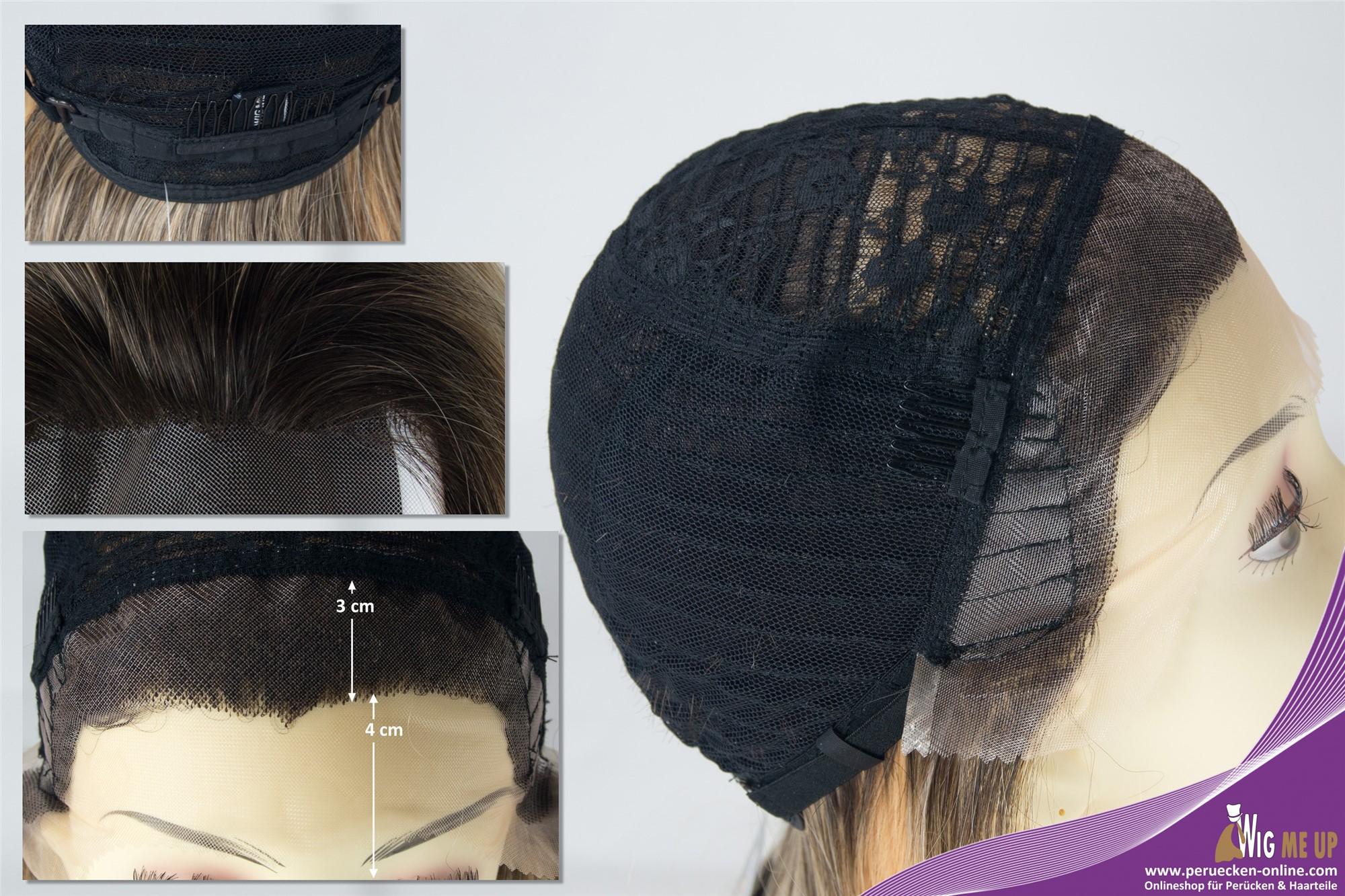 Perücke Lang Glatt Lace Front Ombre Braun Blond Modell