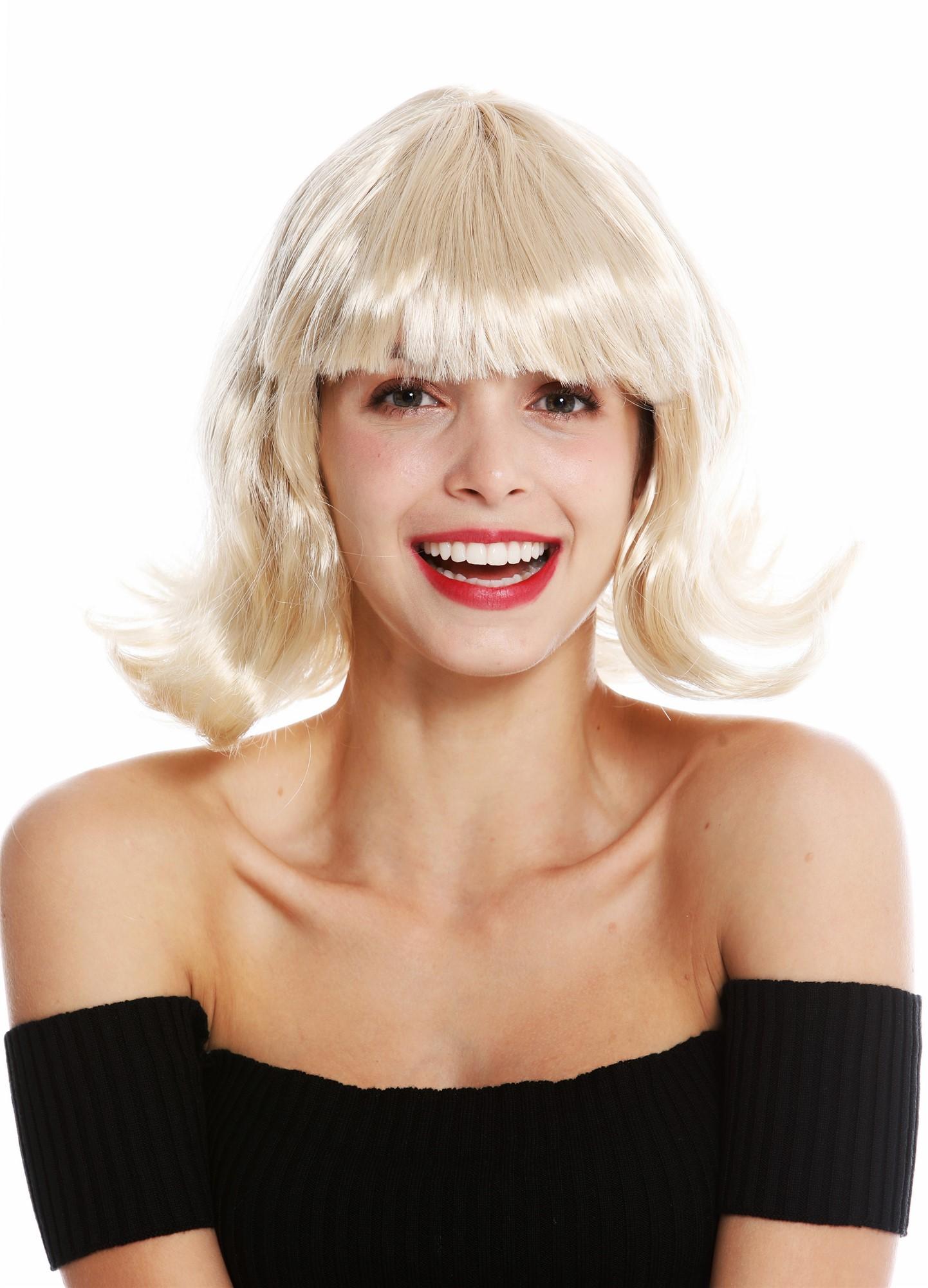 perücke longbob kurz blond wellig modell: 90793dress me up
