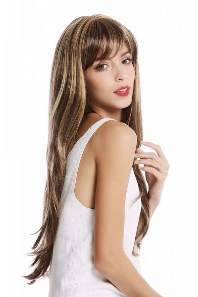 Blonden mit strähnen braun frisur Frisuren Mittellang