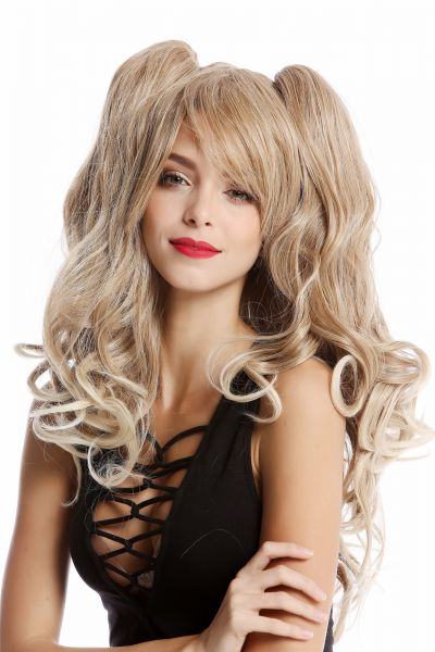 perücke cosplay 2 zöpfe blond mix modell: yzf-4379dress me